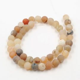 Agate beads strand 8-9 mm