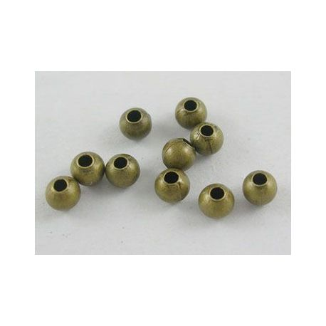 Insert aged bronze, size 3 mm, 100 pcs