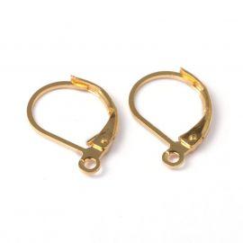 Earrings hooks 15x10 mm, 5 pairs