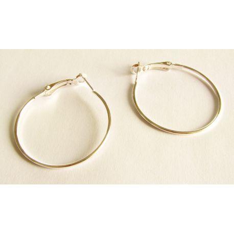 Kabliukai skirti auskarų gamybai sidabro spalvos 35mm