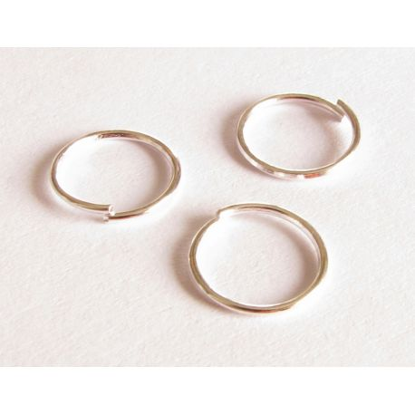 Single rings silver color 9 mm