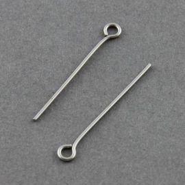 Nerūdijančio plieno smeigtukai 30x0.7 mm, ~100 vnt. (10,50 g.)