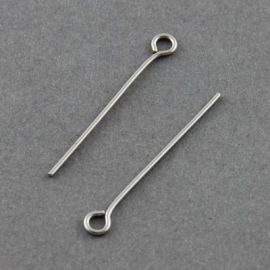 Stainless steel pins 30x0.7 mm, ~100 pcs. (10,50 g)