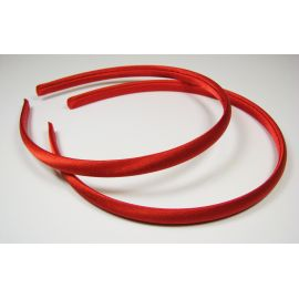 Hair hoop, with satin, red 1 pcs.