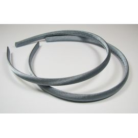 Hair hoop, with satin, dark gray 1 pcs.
