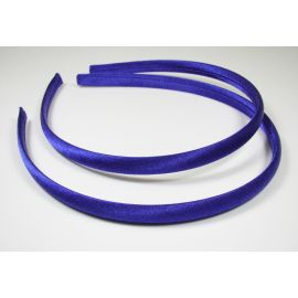 Hair hoop, with satin, bright blue 1 pcs.