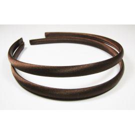 Hair hoop, with satin, dark brown 1 pcs.