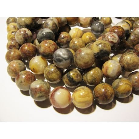 Agate beads, multicolor, round shape 12 mm