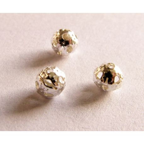 Insert silver color for the manufacture of jewelry round shape 4mm