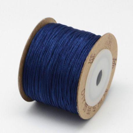 Nylon thread cord, glossy dark blue color 0.80 mm 5 m