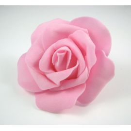 Dekoratyvinė gėlytė - rožė 6-7mm, rožinės spalvos 1 vnt.