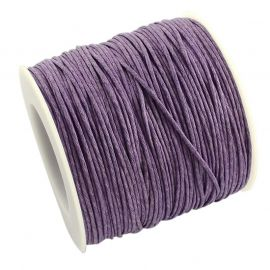 Waxed cotton cord 1.00 mm 1 m
