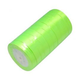 Satin ribbon, brightly lettuce, 16 mm wide, 22 meters