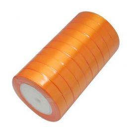 Satin ribbon, orange, 16 mm wide, 22 meters