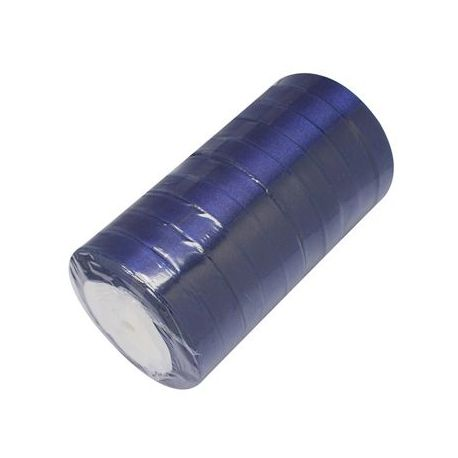 Satin ribbon, rich blue, 12 mm wide, 22 meters