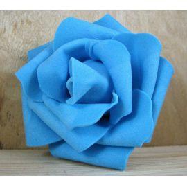 Dekoratīvs zieds - roze 6-7mm, spilgti debeszils 1 gab.