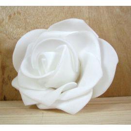 Dekoratīvs zieds - roze 6-7mm, balts 1 gab.