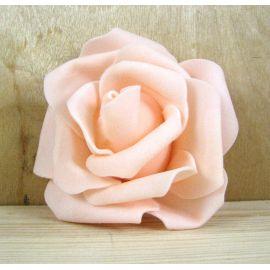 Dekoratīvs zieds - roze 6-7mm, persiku krāsa 1 gab.