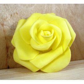 Dekoratīvs zieds - roze 6-7mm, dzeltena 1 gab.