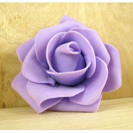 Dekoratīvs zieds - roze 6-7mm, ceriņu krāsa 1 gab.