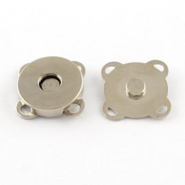 Magnetinis prisiuvamas užsegimas, 15x15 mm, 4 vnt.