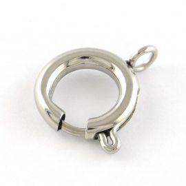 Stainless steel clasp, 14 mm, 1 pcs.