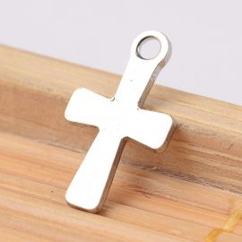 "Stainless steel pendant ""Cross"" 12x7 mm, 1 pcs."