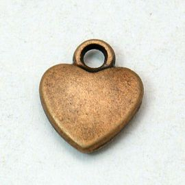 "Pendant ""Heart"" 12x10 mm, 1 pcs."