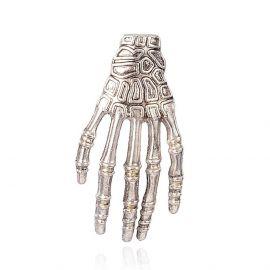 """Кулон """"Скелетная рука"""" 39х18 мм, 1 шт."""