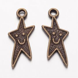 "Chain of pendant ""Merry Star"" 22x9 mm, 1 pcs."