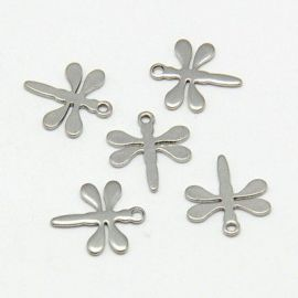"Stainless steel pendant ""Dragonfly"" 11 mm, 1 pcs."