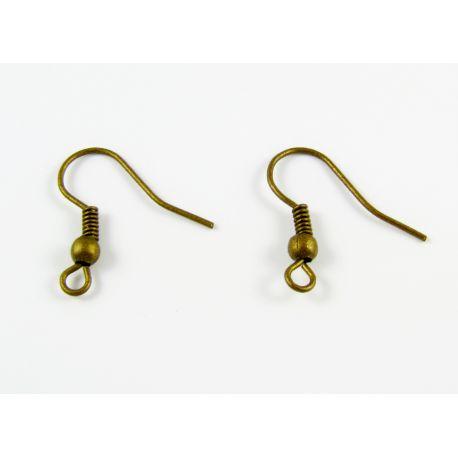 Крючки для изготовления серег бронзового цвета 18мм.