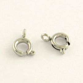 Stainless steel clasp, 9x7 mm, 2 pcs.