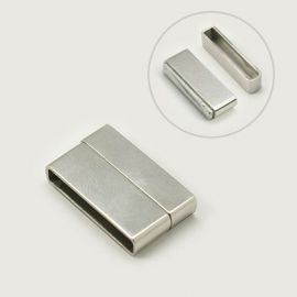 Stainless steel clasp, 22x13 mm, 1 pcs.