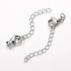 Stainless steel clasp, 15 mm, 1 pcs.