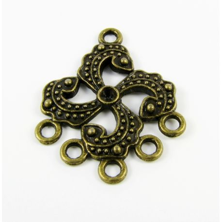 Distributor - for the manufacture of jewelry combine elements bronze color 24,5x30,5mm