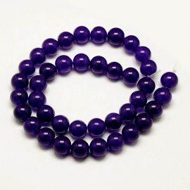 Malaysian jade bead thread, purple, 8 mm