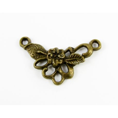 Distributor - for the manufacture of jewelry to combine elements aged bronze color 26x15mm