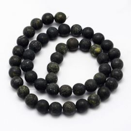 Natural Serpentine Bead Thread 6 mm