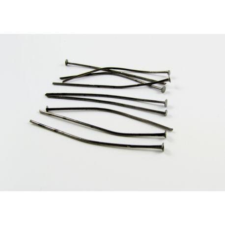 Булавки для изготовления бижутерии чёрные с плоской головкой 40мм