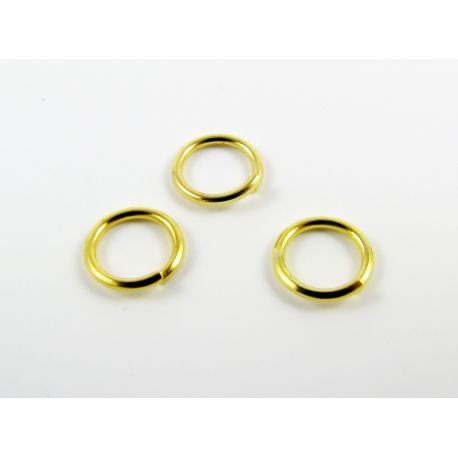 Single rings for the manufacture of jewelry gold color 6mm