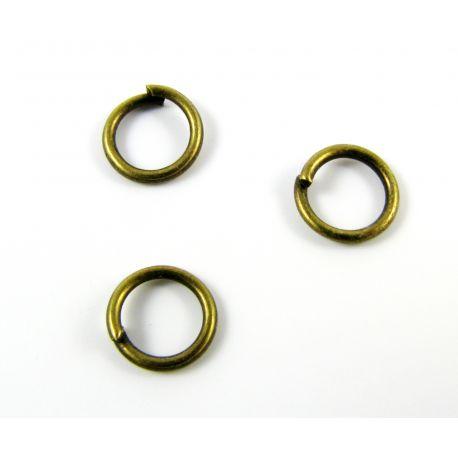Atsevišķi gredzeni juvelierizstrādājumu izgatavošanai vecumā no bronzas 7x7mm