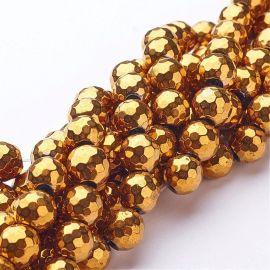 Synthetic hematite beads 10 mm, 4 pcs.