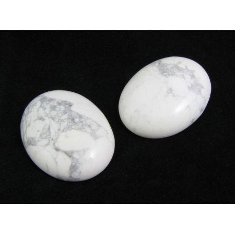 Houlito kabošonas pilkos baltos spalvos, ovalo formos 40x30x8mm
