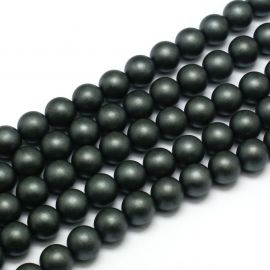 Synthetic hematite bead thread 8 mm