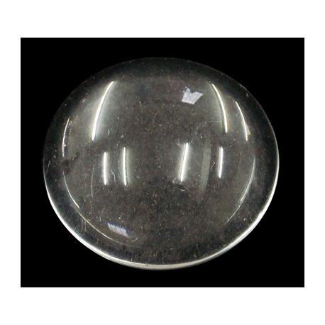 Glass cabochon, lens transparent round shape 20x6mm