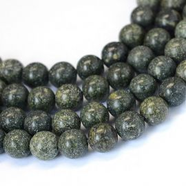 Natural thread of Serpantine beads 8-9 mm