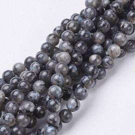 Natural Labradorito beads strand 6 mm