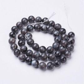 Natural Labradorito beads strand 8 mm