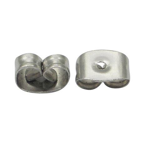 Ajukujuline lukk metallist nikkel värviga 4,5x6x3mm